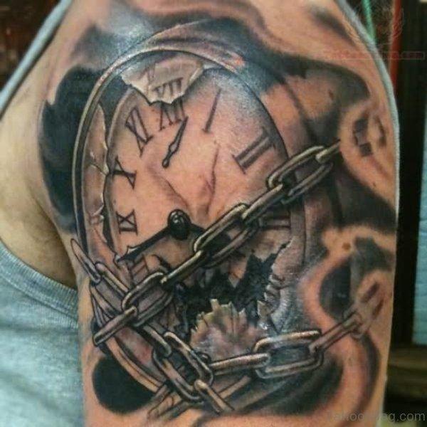 Locked Clock Tattoo