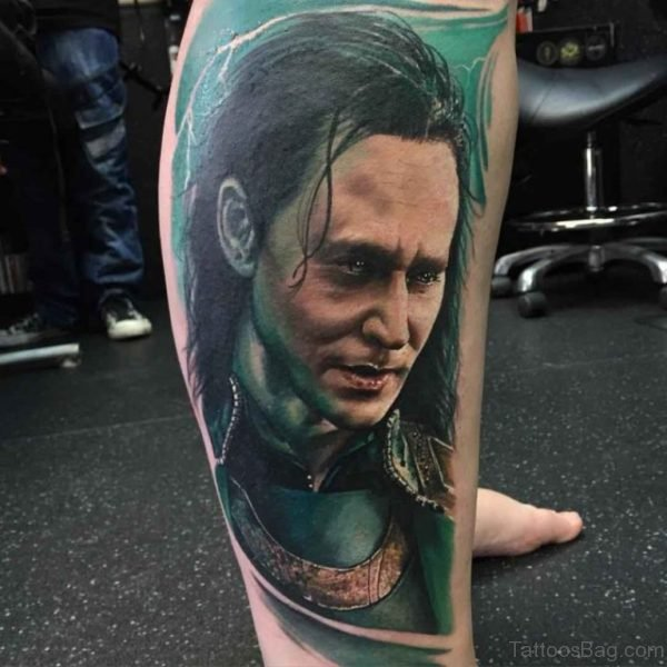 Loki Portrait Tattoo