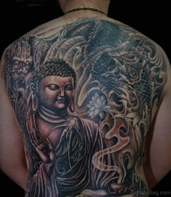 Lord Buddha Dragon Tattoo Design