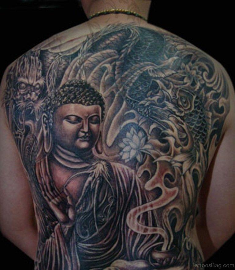 151f324d6 63 Fantastic Buddha Tattoos For Back