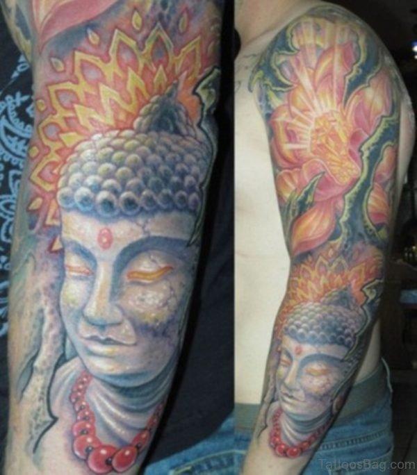 Lotus And Buddha Tattoo