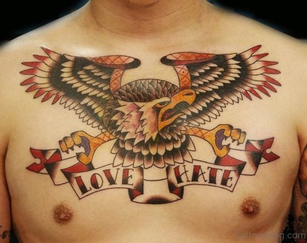 Love Hate And Birds Tattoo