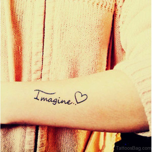 Love Imagine Tattoo On Wrist