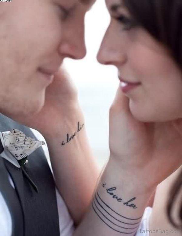 Love Word Wrist Tattoo