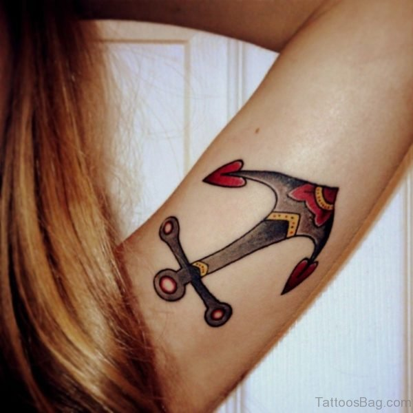 Lovely Anchor Tattoo