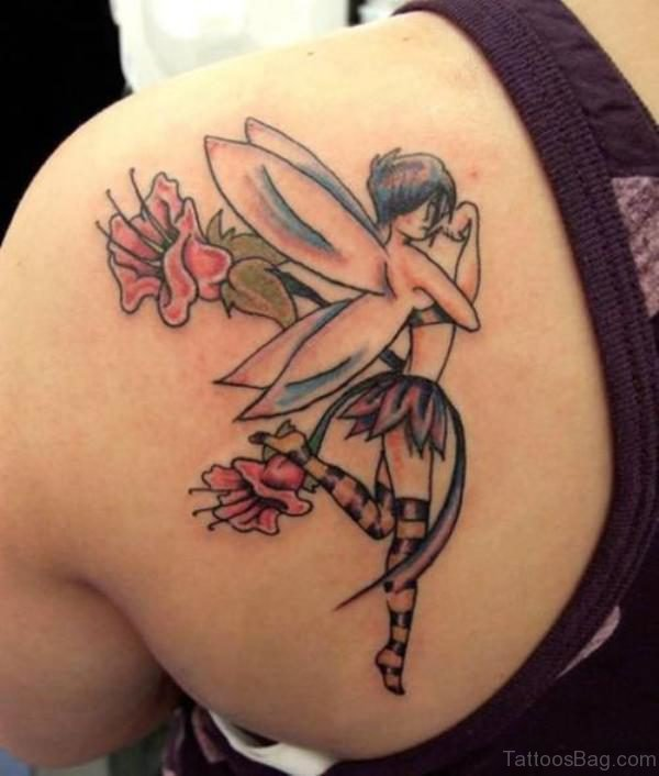 Lovely Angel Tattoo Design