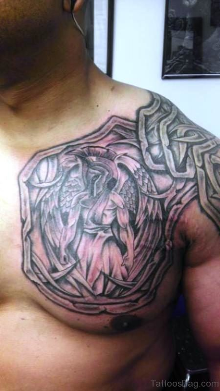 Lovely Armour Tattoo On Shoulder