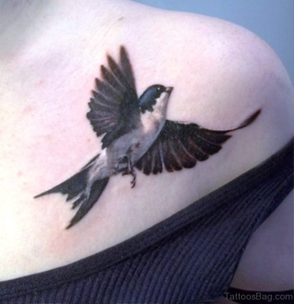 Lovely Bird Shoulder Tattoo