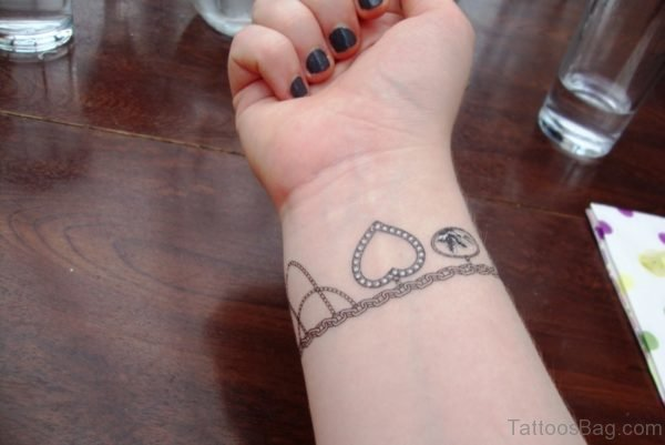 Lovely Bracelett Tattoo On Wrist