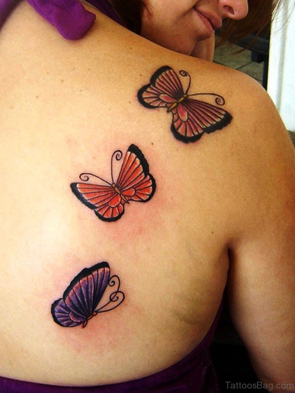 Lovely Butterfly Shoulder Tattoo