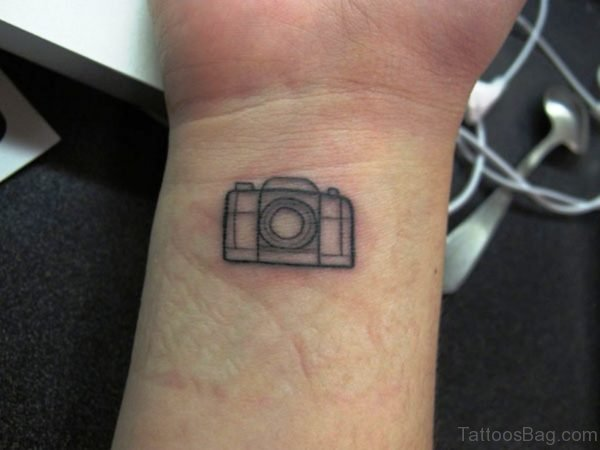 Lovely Camera Wrist Tattoo