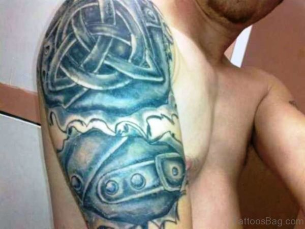 Lovely Celtic Armour Tattoo