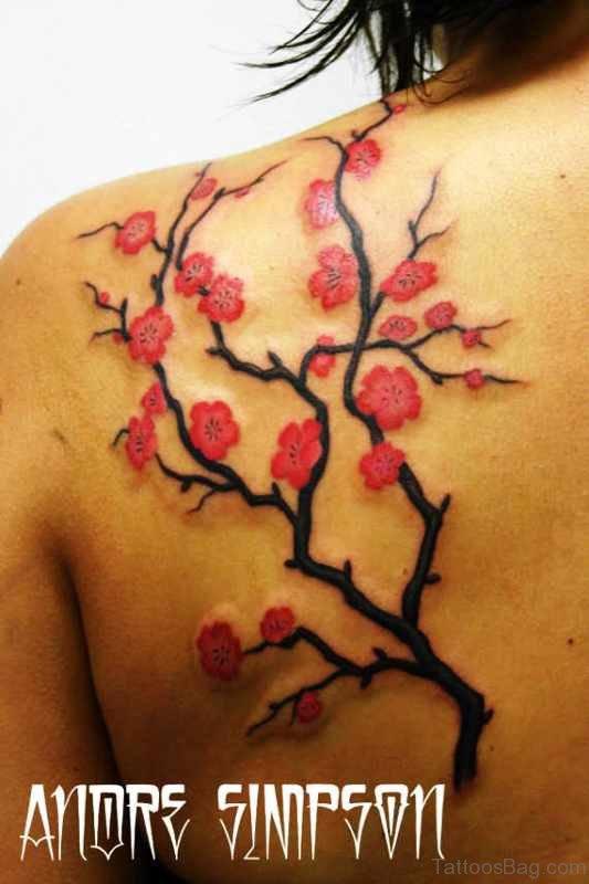 Lovely Cherry Blossom Tattoo Design