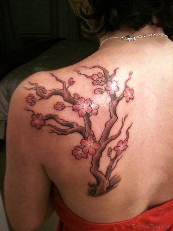 Lovely Cherry Blossom Tree Tattoo