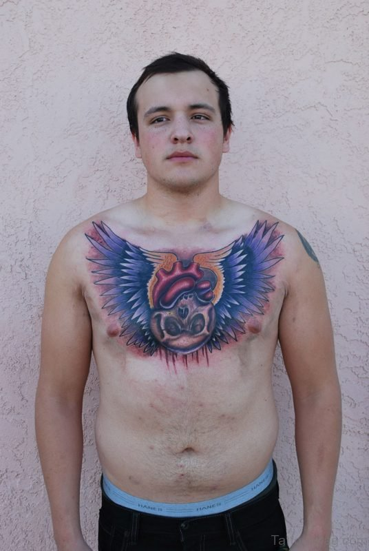 Lovely Chest Tattoo
