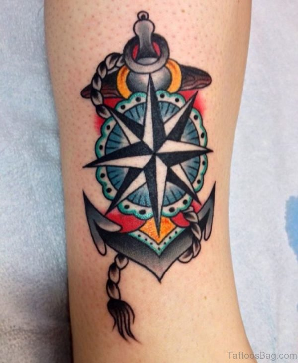 Lovely Compass Tattoo