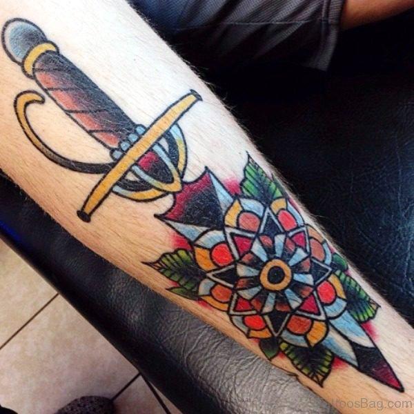Lovely Dagger Tattoo Design