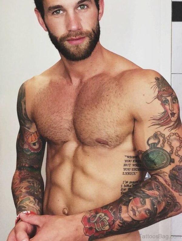 Lovely Full Sleeve Tattoo