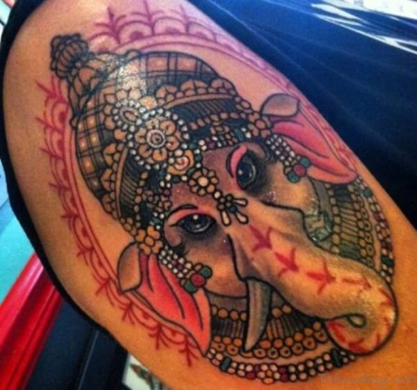 Lovely Ganesha Tattoo