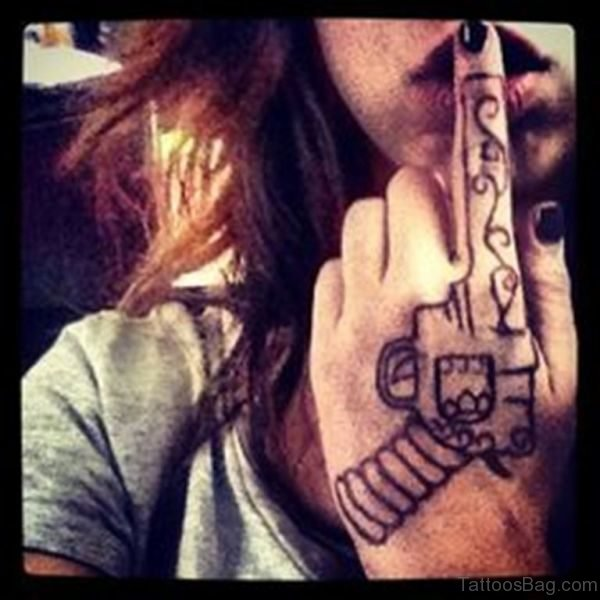 Lovely Gun Tattoo