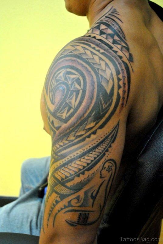 Lovely Half Sleeves Shoulder Tattoo