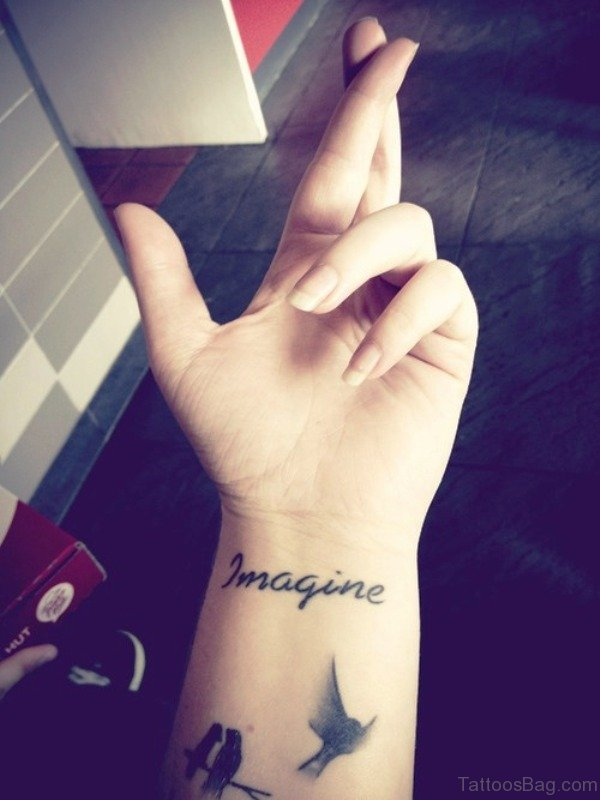 Lovely Imagine Tattoo On Wrist