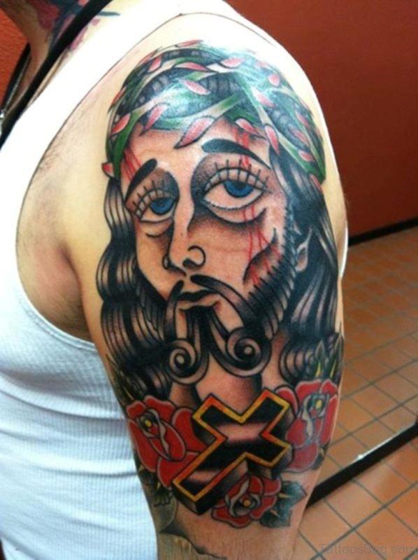 Lovely Jesus Tattoo Design