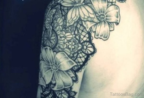 Lovely Lace Tattoo For Women