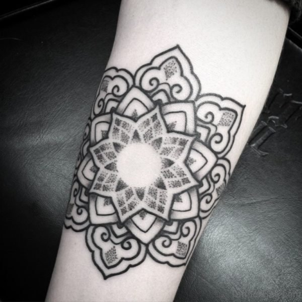 Lovely Mandala Tattoo On Arm