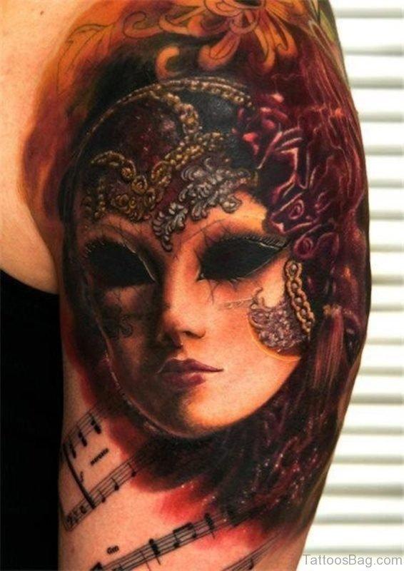 Lovely Mask Tattoo
