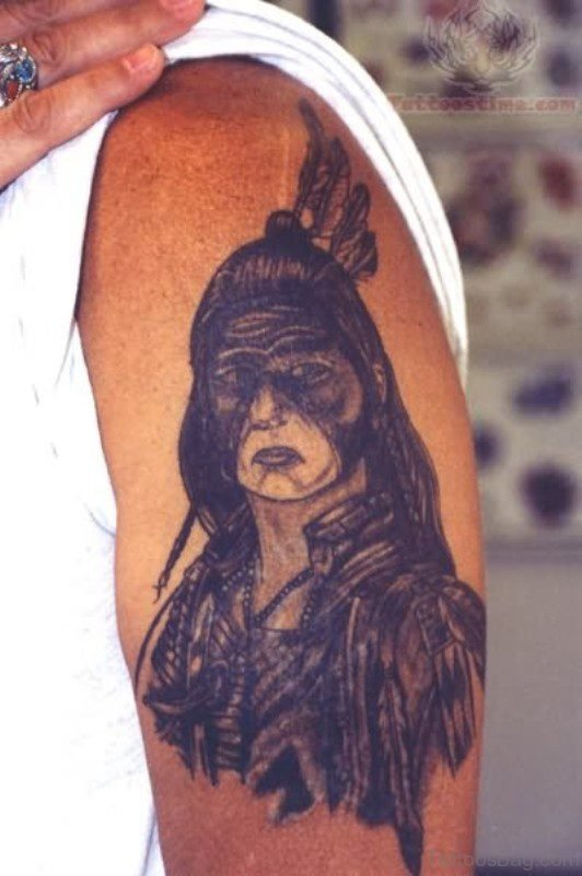 Lovely Native American Tattoo