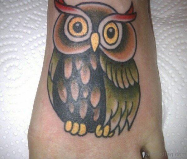 Lovely Owl Tattoo