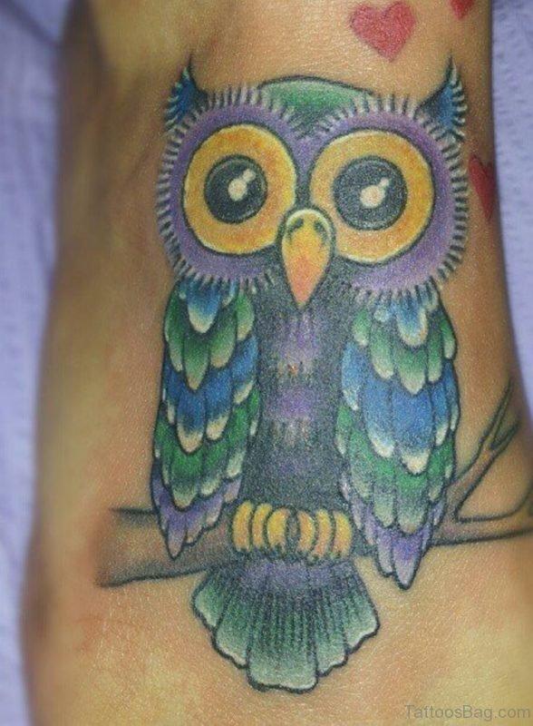 Lovely Owl Tattoo Design