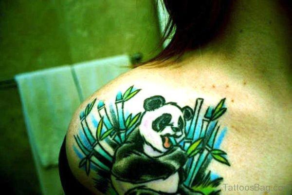 Lovely Panda Tattoo Design