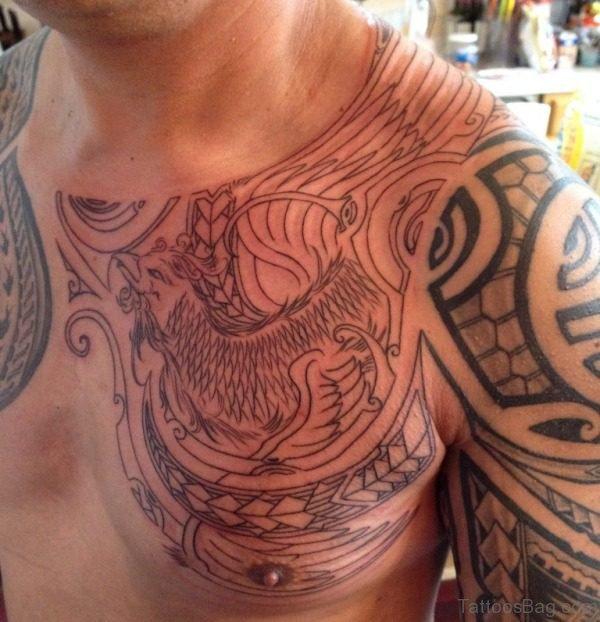 Lovely Phoenix Designer Tattoo