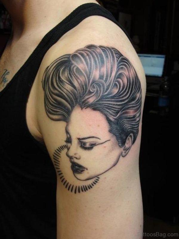 Lovely Portrait Tattoo On Shoulder