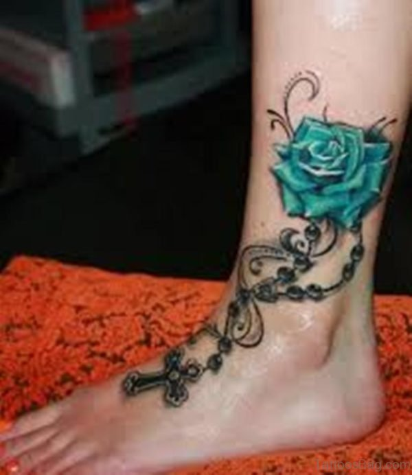 10 Foot Rose Tattoo Designs: 41Good Looking Rose Tattoos For Ankle