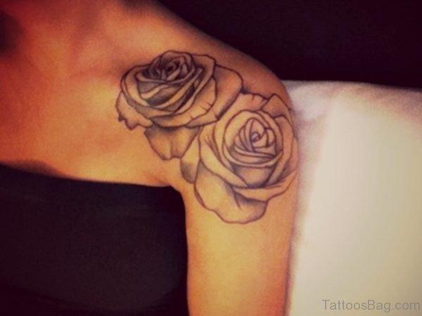 Lovely Roses Tattoo For Women