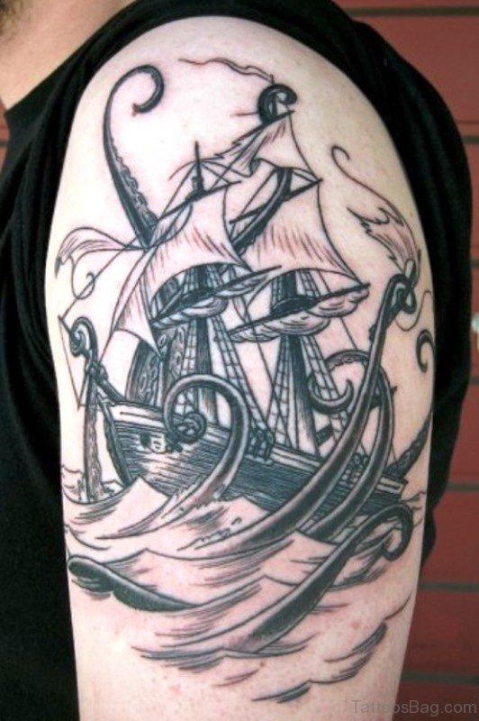 Lovely Ship Tattoo