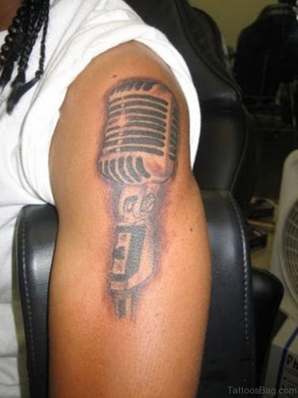 Lovely Shoulder Music Tattoo