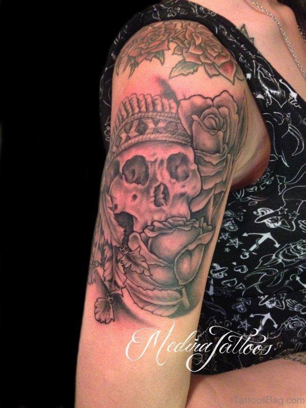 Lovely Skull Tattoo