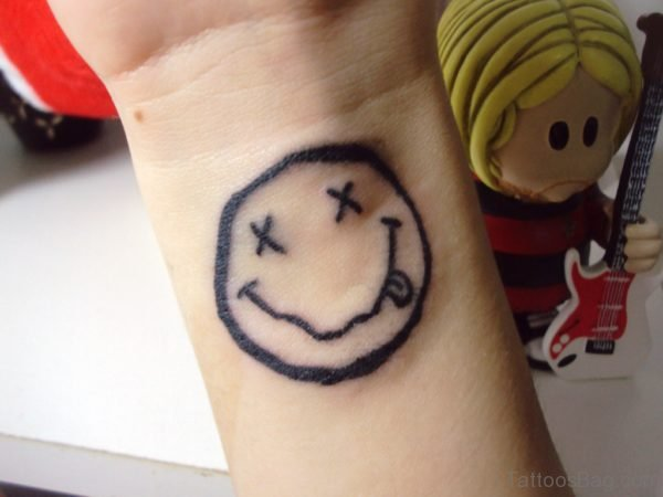 Lovely Smile Wrist Tattoo