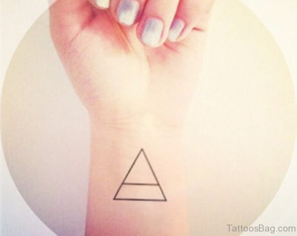 Lovely Triangle Tattoo On Wrist