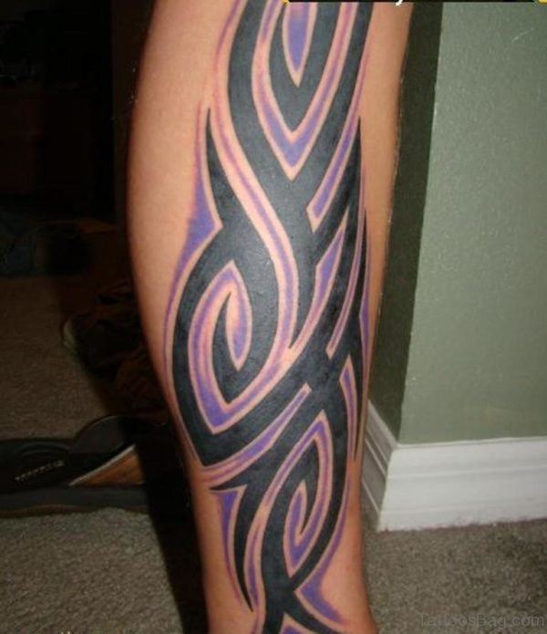 Lovely Tribal Tattoo For Leg