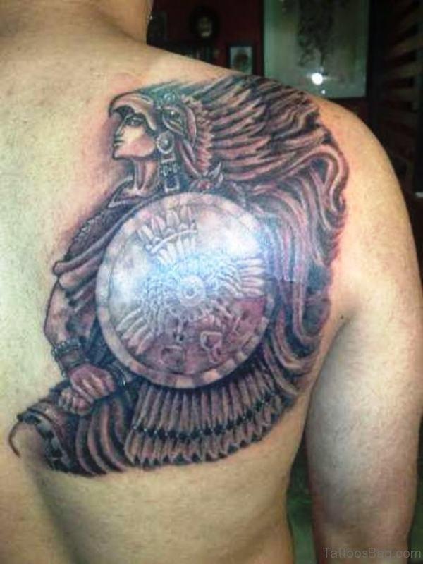 Lovely Warrior Aztec Tattoo