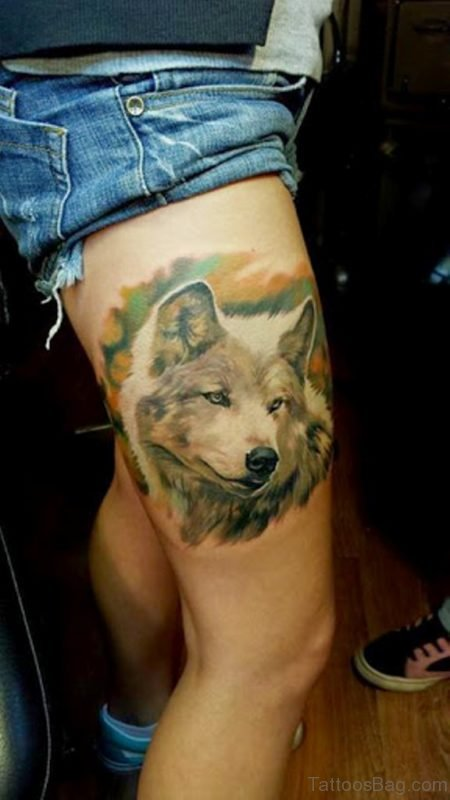 Lovely Wolf  Tattoo