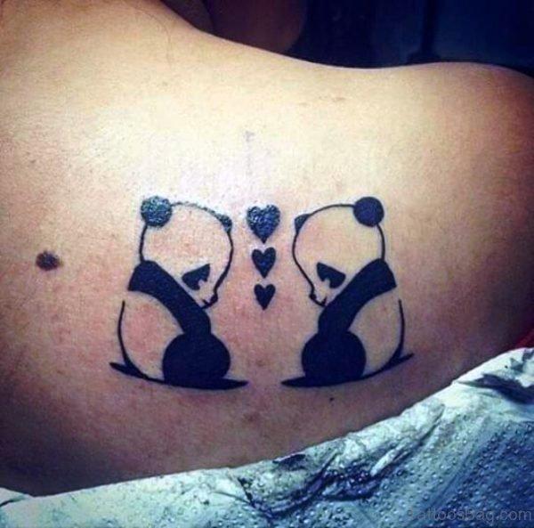 Loving Panda Shoulder Tattoo