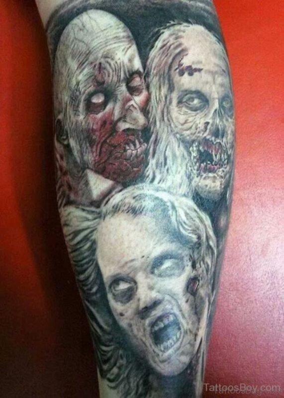 MInd Blowing Zombie Tattoo