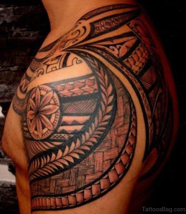 MIxed Tribal Geometric Tattoo