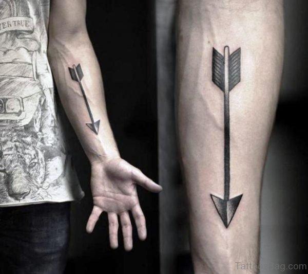 Magnificent Arrow Tattoo Design